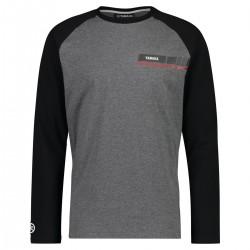 T-shirt Yamaha REVS 2019 Noir Gris Homme Manches Longues
